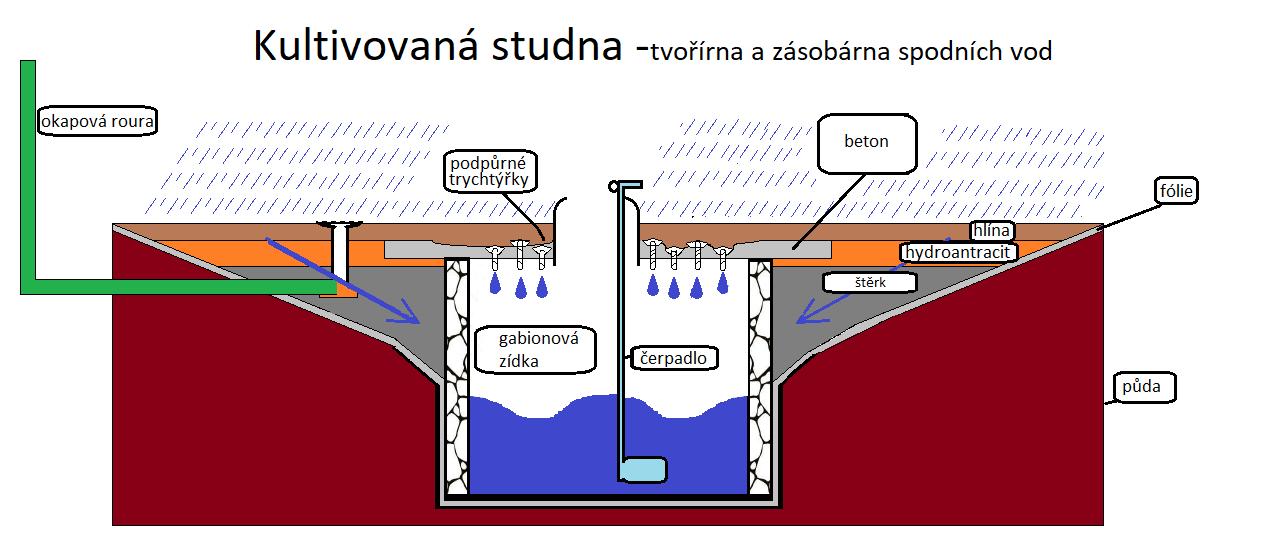 Cultaqua -kultivovaná vsakovací studna